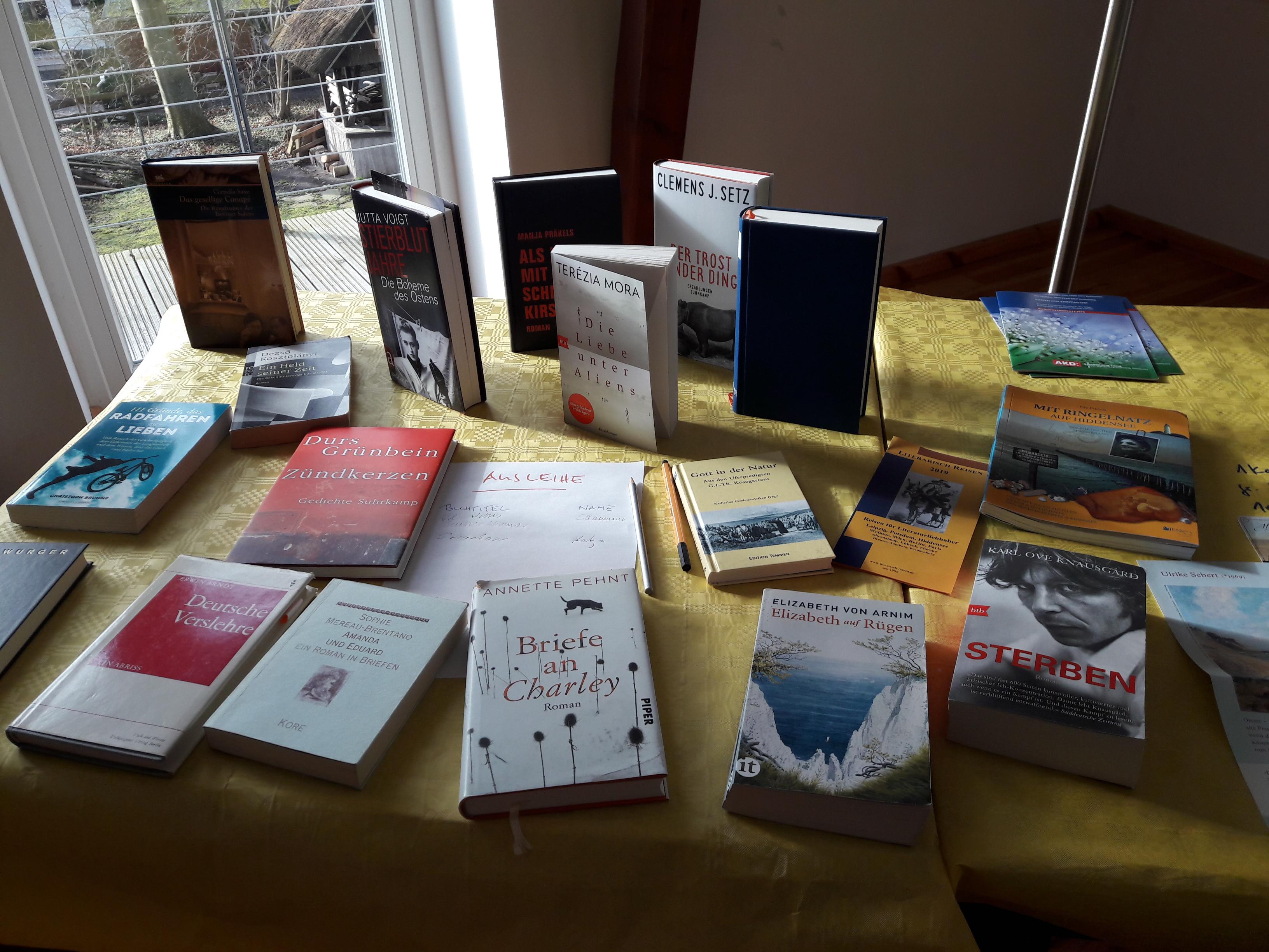Büchertisch beim Schreibkurs 2019, Copyright: Cornelia Saxe