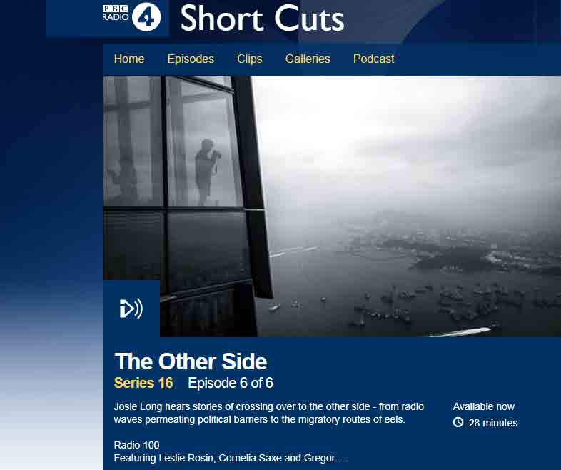 BBC Podcast Short Cuts Series 16 Episode 6 of 6 Copyright: BBC