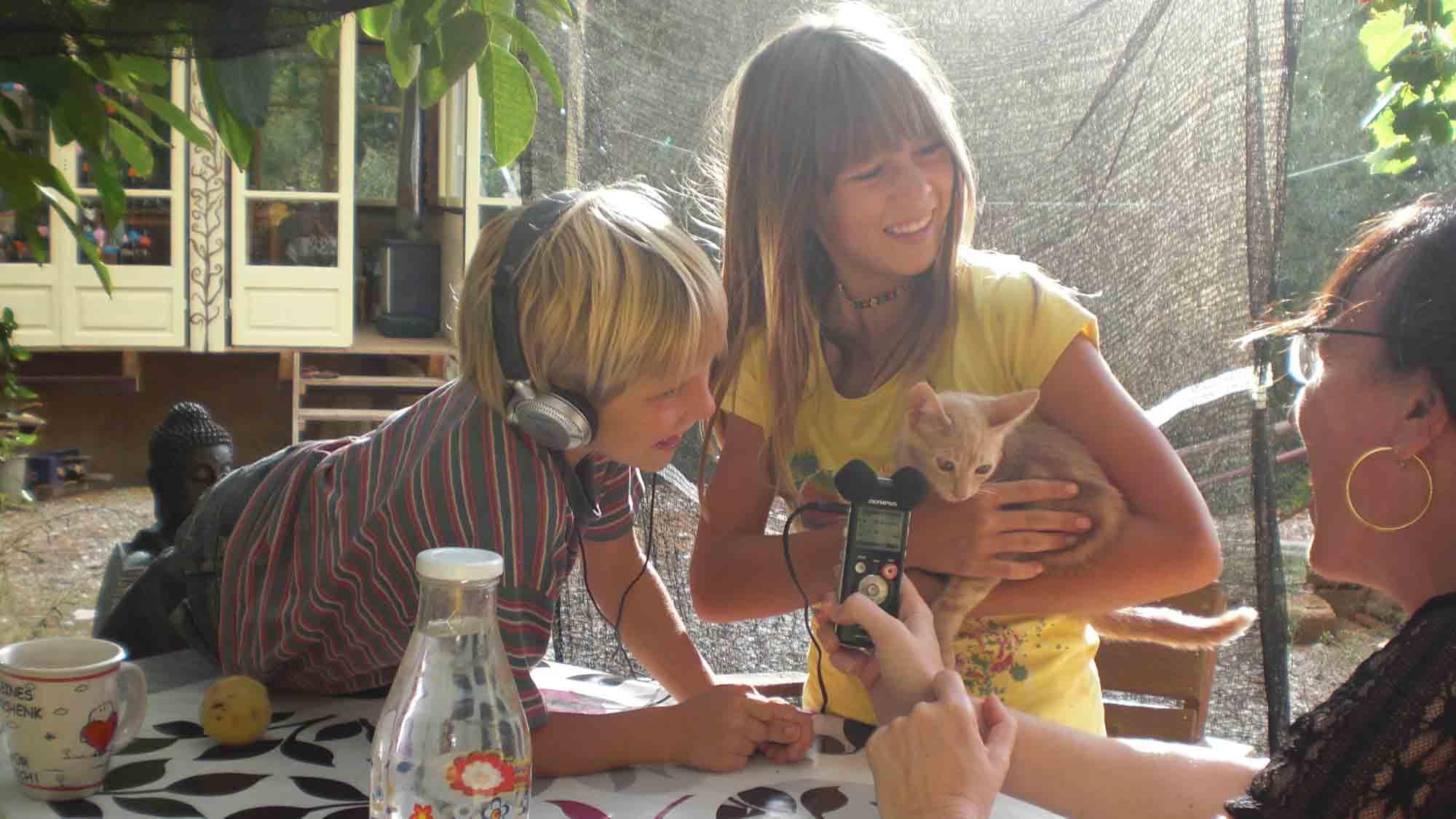 Interview mit den Kindern deutscher Auswanderer auf der griechischen Insel Peleponnes, Copyright: Cornelia Saxe
